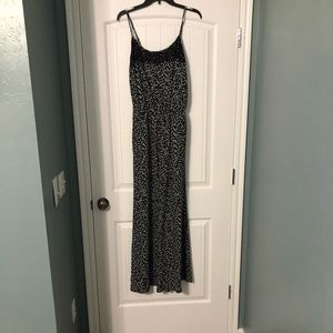 Lace trimmed jumpsuit in excellent condition.